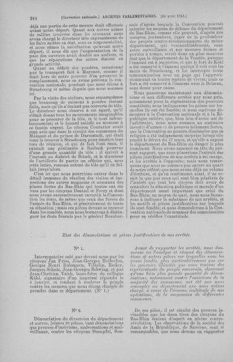 Tome 62 : Du 13 au 19 avril 1793 - page 210