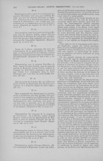 Tome 62 : Du 13 au 19 avril 1793 - page 212