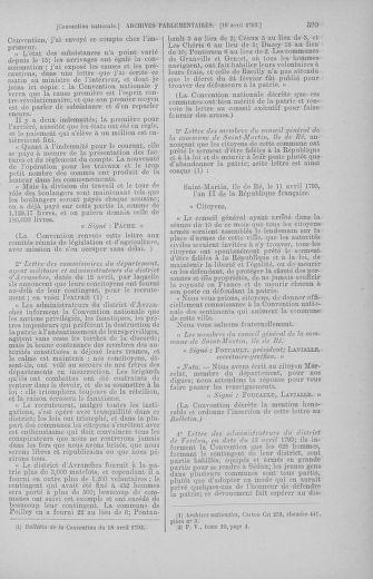 Tome 62 : Du 13 au 19 avril 1793 - page 599