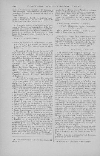 Tome 62 : Du 13 au 19 avril 1793 - page 600