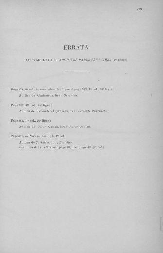Tome 62 : Du 13 au 19 avril 1793 - page 779