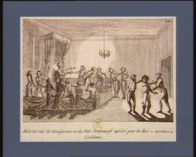 Décret sur les emigrans et du veto suspensif apôsé par le Roi - arrivé à Coblenz [estampe]
