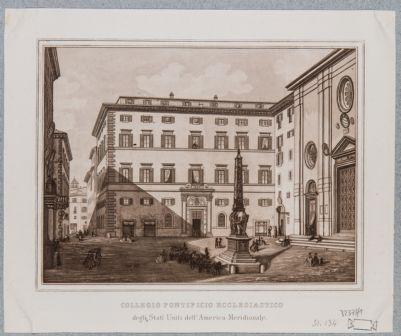 Palazzo della Minerva. Prospetto sulla piazza