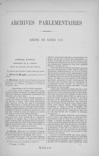 Tome 30 : Du 28 août au 17 septembre 1791 - page ..