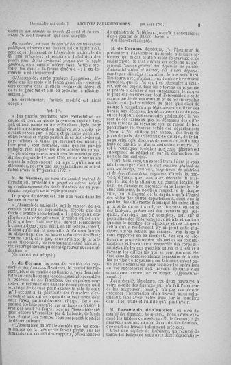 Tome 30 : Du 28 août au 17 septembre 1791 - page 3