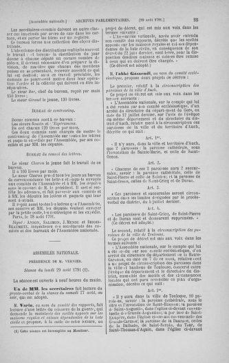 Tome 30 : Du 28 août au 17 septembre 1791 - page 25