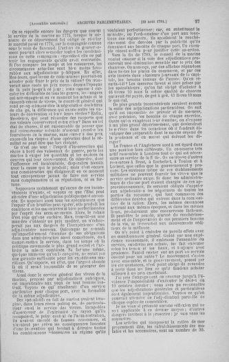 Tome 30 : Du 28 août au 17 septembre 1791 - page 27