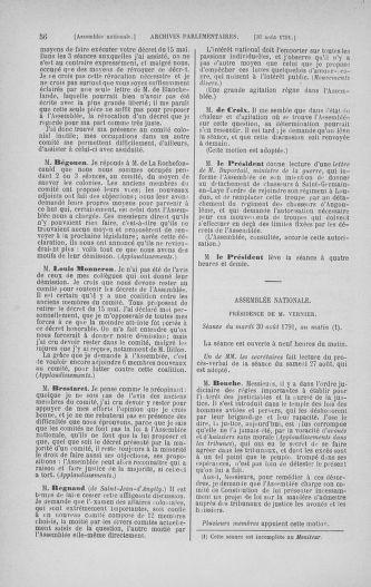 Tome 30 : Du 28 août au 17 septembre 1791 - page 56