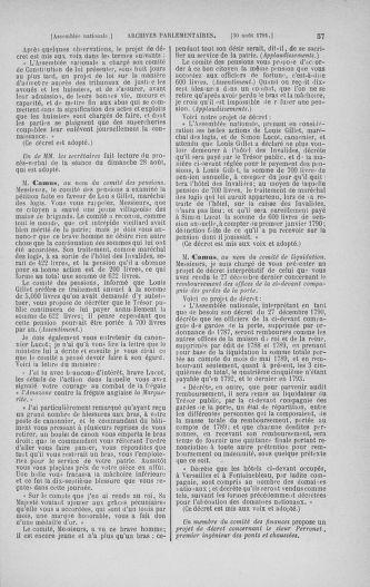 Tome 30 : Du 28 août au 17 septembre 1791 - page 57