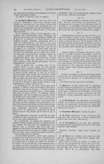 Tome 30 : Du 28 août au 17 septembre 1791 - page 80