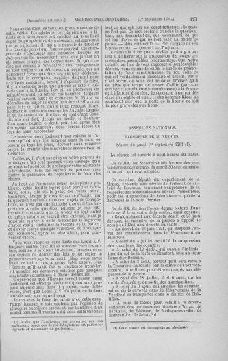 Tome 30 : Du 28 août au 17 septembre 1791 - page 127