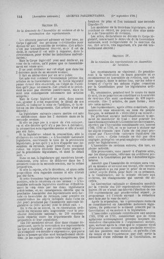 Tome 30 : Du 28 août au 17 septembre 1791 - page 144