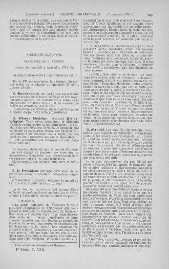 Tome 30 : Du 28 août au 17 septembre 1791 - page 145