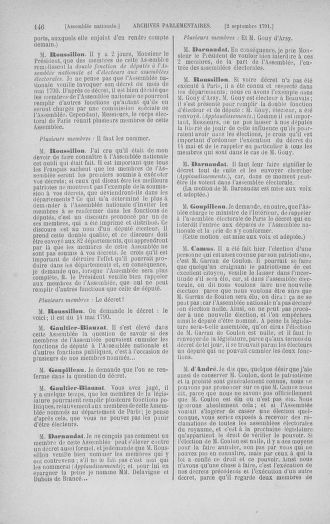 Tome 30 : Du 28 août au 17 septembre 1791 - page 146