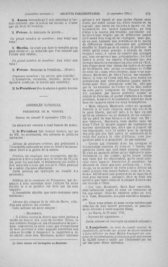 Tome 30 : Du 28 août au 17 septembre 1791 - page 171