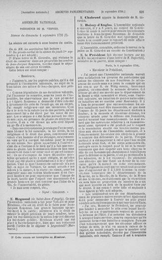 Tome 30 : Du 28 août au 17 septembre 1791 - page 191