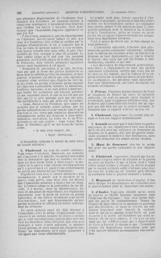 Tome 30 : Du 28 août au 17 septembre 1791 - page 192