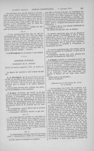 Tome 30 : Du 28 août au 17 septembre 1791 - page 201