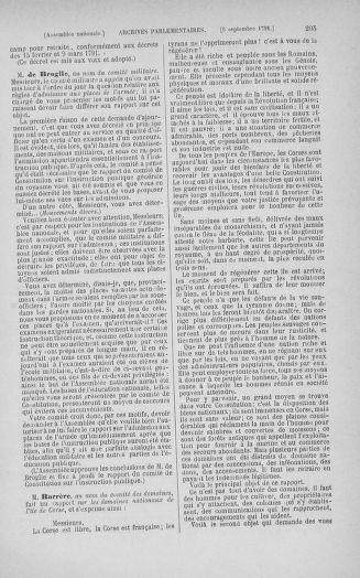 Tome 30 : Du 28 août au 17 septembre 1791 - page 205