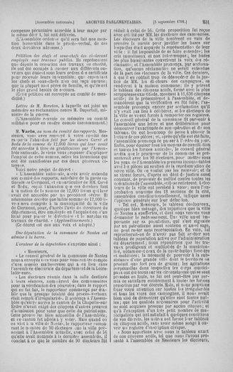 Tome 30 : Du 28 août au 17 septembre 1791 - page 231