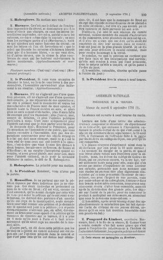 Tome 30 : Du 28 août au 17 septembre 1791 - page 239