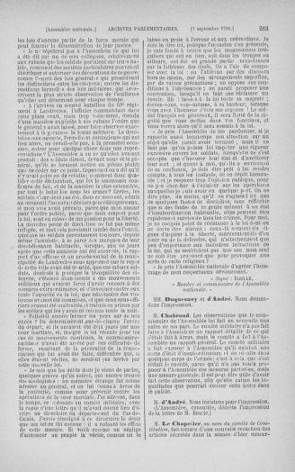 Tome 30 : Du 28 août au 17 septembre 1791 - page 263