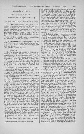 Tome 30 : Du 28 août au 17 septembre 1791 - page 287