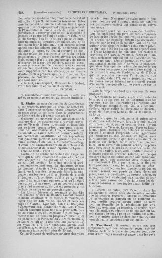 Tome 30 : Du 28 août au 17 septembre 1791 - page 288