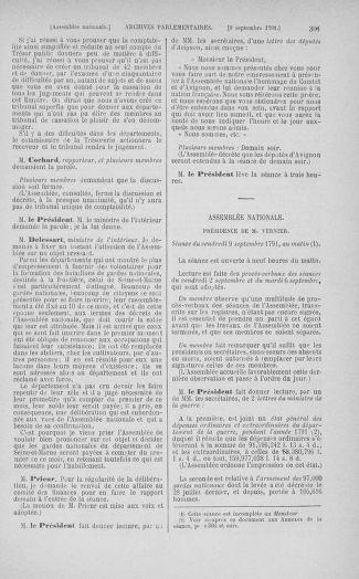 Tome 30 : Du 28 août au 17 septembre 1791 - page 301