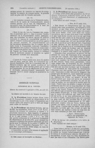 Tome 30 : Du 28 août au 17 septembre 1791 - page 394