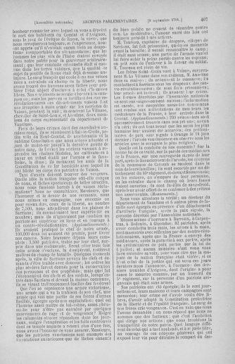 Tome 30 : Du 28 août au 17 septembre 1791 - page 407