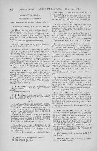 Tome 30 : Du 28 août au 17 septembre 1791 - page 436