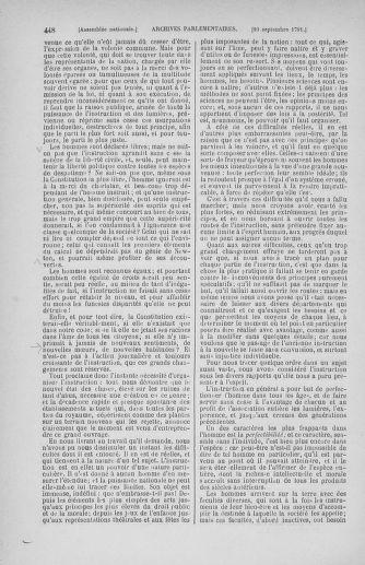 Tome 30 : Du 28 août au 17 septembre 1791 - page 448