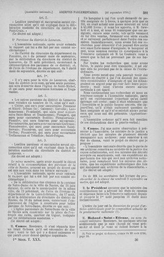 Tome 30 : Du 28 août au 17 septembre 1791 - page 561