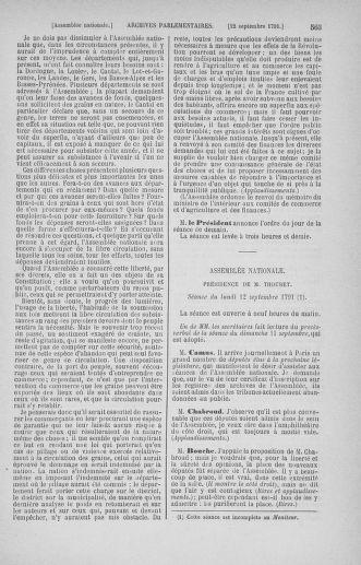 Tome 30 : Du 28 août au 17 septembre 1791 - page 563