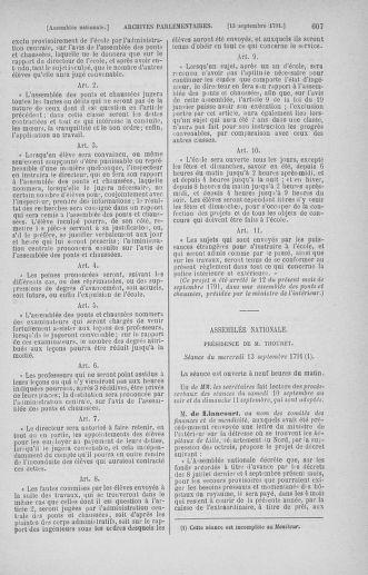 Tome 30 : Du 28 août au 17 septembre 1791 - page 607