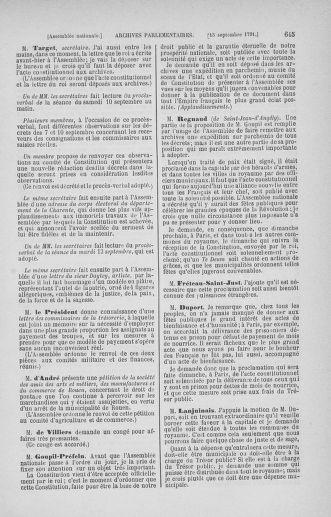 Tome 30 : Du 28 août au 17 septembre 1791 - page 645