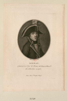 Moreau général en chef de l'armée de Rhin et Moselle né à Morlaix en 1763 : [estampe]