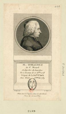 M. Guiraudez de St Mezard archiprêtre de Lavardens né à Saramon le 25 X.bre 1728 député de la sén.ssée d'Auch aux Etats g.raux de 1789 : [estampe]