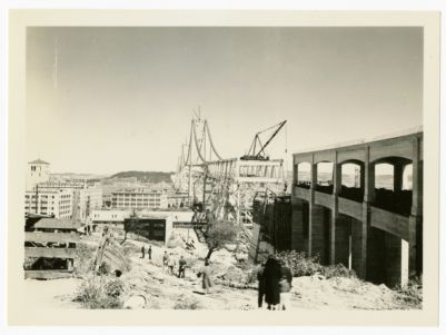 30. Views of the Bay Bridge from Rincon Hill about Feb. 1936