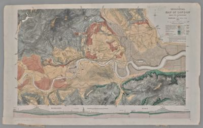 Geological map of London