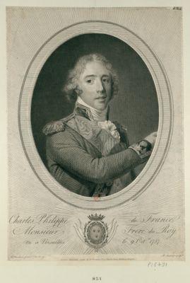 Charles Philippe de France, Monsieur frere du Roy né à Versailles le 9 oc.bre 1757 : [estampe]