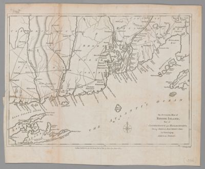 An Accurate Map of Rhode Island, Part of Connecticut and Massachusetts, shewing Admiral Arbuthnot's Station Blocking up Admiral Ternay
