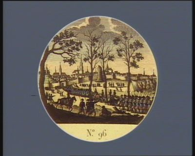 N.o 96 20 novembre. Possession de Louvain par le g. al Dumouriez... : [estampe]