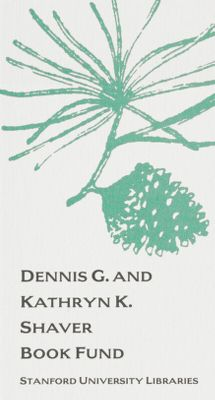 Dennis G. and Kathryn K. Shaver Book Fund