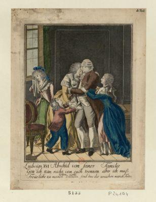 Ludwigs XVI Abschid von seiner Familie [estampe]
