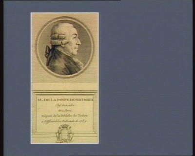 M. de La Poype de Vertrieux chef descâdre, né à Paris, député de la noblesse de Toulon à l'Assemblée nationale de 1789 : [estampe]