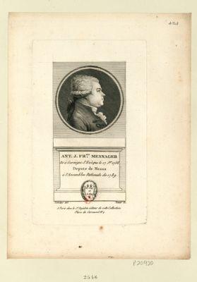 Ant. J. Fr.ois Mesnager né à Germigni-l'Evêque le 17 j.er 1756 depute de Meaux à l'Assemblée nationale de 1789 : [estampe]