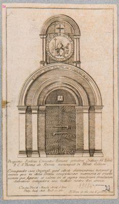 Prospectus porticus conventus Romani primitivi Ordinis SS. Trinit
