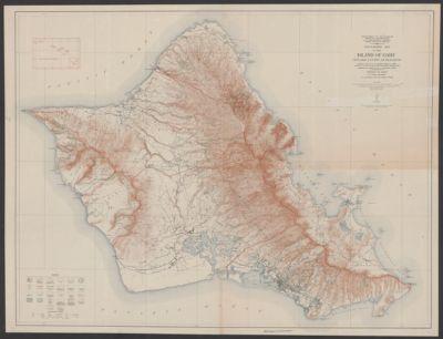 Topographic Map Of The Island Of Niihau Kauai County Hawaii In